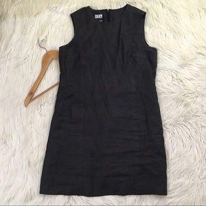 VTG 90s DKNY Size 10 100% Linen Sheath Dress